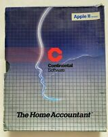 Vtg 1983 Vaporwave Continental Home Accountant Apple ii Instruction Manual Book