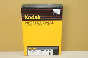 Kodak Professional 5x7 Polycontrast III RC E Photo Paper 100ct (locB6) NOS