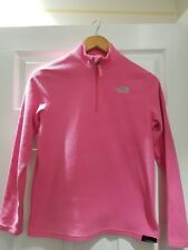 THE NORTH FACE GORGEOUS LADIES/OLDER GIRLS PINK FLEECY JUMPER SIZE SMALL VGC