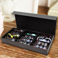 12 Grids Eyeglass Sunglasses Glasses Storage Display Stand Case Box Tray Holder
