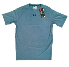 Under Armour Training Tee Blue Mens XL Authentic Anti Odor Fitted Compression