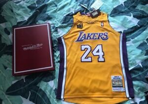 Kobe Bryant Los Angeles LA Lakers 2009 NBA Champions throwback  Yellow Jersey