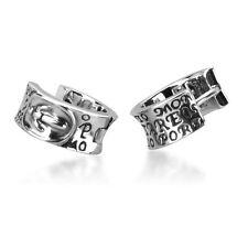 Cool Mens Jewelry Knights 925 Sterling Silver Hoop Earrings BJ222