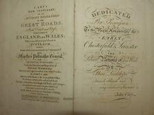 JOHN CARY NEW ITINERARY STRAßEN ENGLAND WALES SCHOTTLAND BOOK BUCH 1802 #D737S