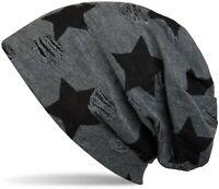 Bonnet avec des étoiles et le motif de points vintage, beanie