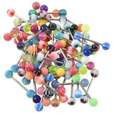 60 X Ball Tongue Nipple Bar Ring Barbell Body Piercing BT