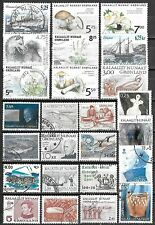 Greenland Used Selection Including One Souvenir Sheet $232.20 SCV