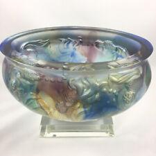 "Amore Jewell ""Golden times"" Goldfish  Treasure bowl, Colored Glaze Glass"