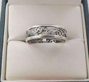 Sterling Silver Filigree Pretty Ring, Size O