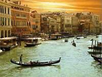 ROMANTIC VENICE GRAND CANAL CITYSCAPE ITALY GONDOLA ART PRINT POSTER BMP913B