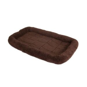 Soft Crate Mat For Kennel | Puppy Dogs Pet Cage Bed Crate | Washable Warm Brown