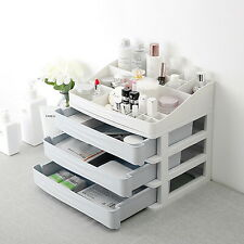 Cosmetic 3 Layer Drawer Organizer Makeup Container Desktop Sundry Storage Case