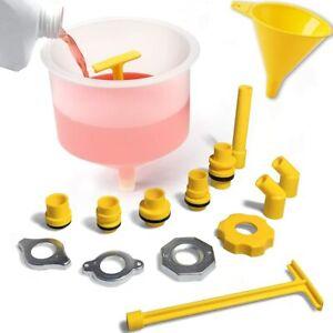 Universal Spill Free Radiator Coolant Filling Funnel Kit No Spill Radiator Fun