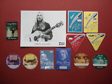 Greg Allman,promo photo,11 different Backstage passes,Rare Originals,