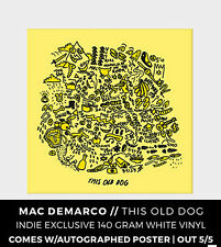 Mac Demarco This Old Dog WHITE VINYL LP Record & Autographed Poster! Newbury NEW
