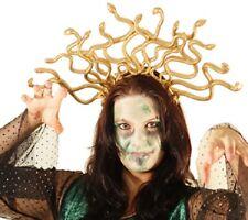 Halloween Miedo-Evil-griega-Myth Oro Medusa tocado de un tamaño