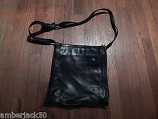 VERA PELLE SORRENTO DE MARTINO BLACK LEATHER TOTE HANDBAG ITALY INTERNATNOL SALE