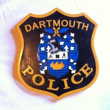 Police Dartmouth 3D  routed carved plaque  wood Patch plaque Sign Custom