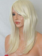 LIGHT BLONDE Long Wavy Straight Women's LADIES fashion party Costume WIG K5