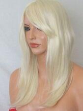 Bleach BLONDE Long Wavy Straight Women LADIES fashion party costume adult WIG K5
