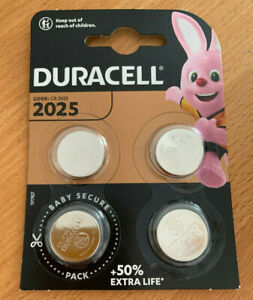4 x Duracell CR 2025