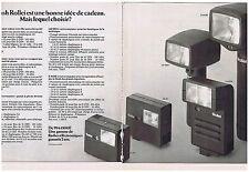 PUBLICITE ADVERTISING 104 1975 Un flash ROLLEI est une bonne idée (2 pages)
