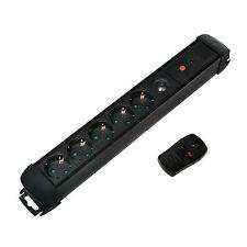 LogiLink® 1,5 m Steckdosenleiste 5er m. Fernbedienung Verteiler Steckdose LPS401