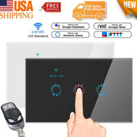 Smart Home WiFi Light Touch Switch w/ Remote Control Fr Alexa Google Home IFTTT