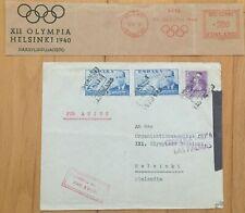 1940 Helsinki Olympic 2 x Postal items / SPAIN! / Finland