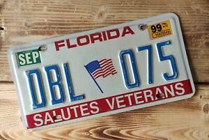 USA Nummernschild/Kennzeichen/license plate/US car/ Veteran * Florida *