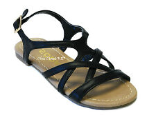Little Girls JR Youth Strappy Gladiator Low Flat Summer Wedding Sandals Shoes