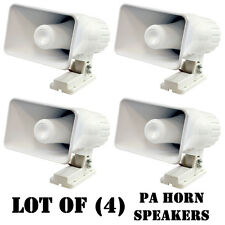 """Lot of (4) New Pyle PHSP4 6"""" Indoor / Outdoor 50 Watts 8 Ohms PA Horn Speakers"""