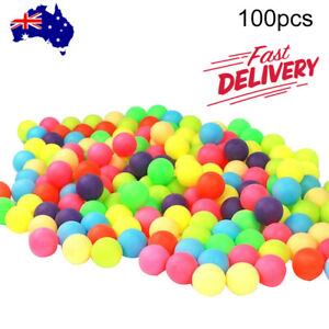 100Pcs Colored  Pong Balls Entertainment Table Tennis Mixed Colors for Game