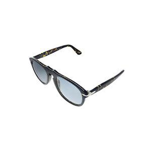 New Persol PO 649 1093P2 Grey Plastic Pilot Sunglasses Grey Polarized Lens