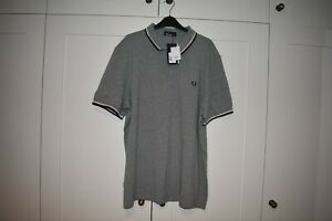 Fred Perry Polo shirt size XXL Mens Grey New with tags
