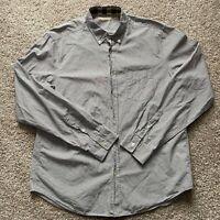 Burberry Brit Mens Gray Long Sleeve Button down Shirt size XL