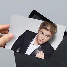 JUSTIN Bieber foto - 6x4 pollici-un-FIRMATO-CON BUSTA NON SIGILLATA REGALO