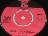 """Sandie Shaw:  Puppet on a String   orig 1967   7""""  EX"""