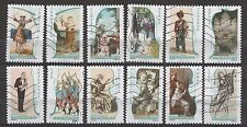 France 3758-69 Musical Instruments in Art (12 USED Stamps)