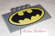 Lego Roof / Ramp Curved 5 x 8 with Batman Logo