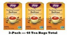 Yogi Tea, Soothing Caramel Bedtime, 16 Count each - PACK OF 3 - 48 Count Total