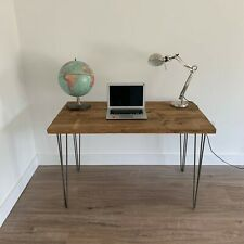 FORÊT Industrial Reclaimed Rustic Hairpin Leg Desk Handcrafted with Solid Wood