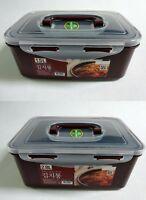 Korean Natural Wine Color Kimchi Food Storage Container 1.5L, 2.8L