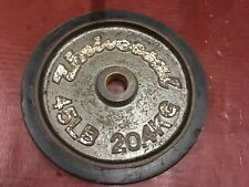 RARE OLYMPIC WEIGHTS SINGLE 45 UNIVERSAL BUMPER RUBBER EDGE WEIGHT PLATE