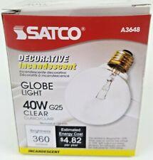 SATCO A3648 40 W Clear Decorative Incandescent