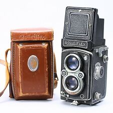 ROLLEIFLEX TLR 3.5 W/ XENOTAR 75MM F/3.5 LENS & CASE -- FOGGED LENSES