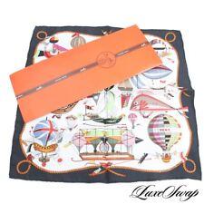 DEADSTOCK NIB Hermes Made France Silk Dubignon Folies Ciel Silk Pochette Scarf