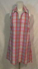 Limited America Plaid 100%cotton Dress Size 4, Lavenders Pink Green Orange