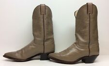 WOMENS JUSTIN COWBOY LEATHER SAND BOOTS SIZE 9 B