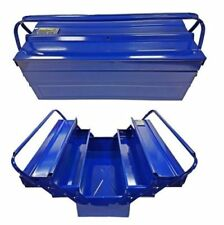 """Heavy Duty 21"""" 530mm Metal Cantilever 5 Tray Toolbox Storage Tool Box Blue New"""
